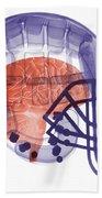 X-ray Of Head In Football Helmet Beach Towel