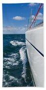 Yacht Lines Beach Towel