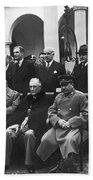 Yalta Conference, 1945 Beach Towel