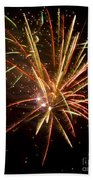 Yellow And Red Fireworks Beach Towel