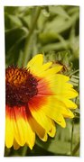 Yellow And Red In The Sunshine Beach Towel