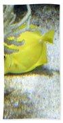 Yellow Angelfish Beach Towel