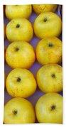Yellow Apples Beach Towel