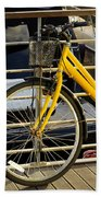 Yellow Bicycle Beach Towel