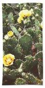 Yellow Cactus Beach Towel