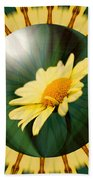 Yellow Daisy Energy Beach Towel