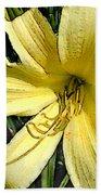 Yellow Daylily Beach Towel