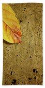 Yellow Fall Leafs Beach Towel