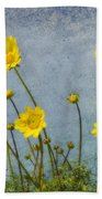 Yellow Flower Blossoms Beach Towel