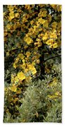 Yellow Flowers On Tree Beach Towel