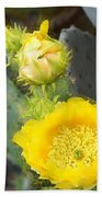 Yellow Lace Unveiled Beach Towel