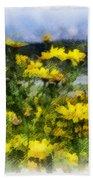 Yellow Landscape Beach Towel