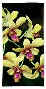 Yellow Orchid Cascade Beach Towel