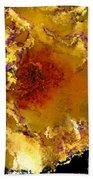 Yellow Rose Art Beach Towel