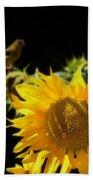 Yellow Sunflowers Beach Towel