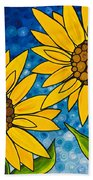 Yellow Sunflowers Beach Sheet