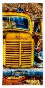 Yellow Trucks Beach Towel