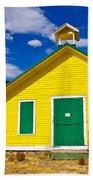 Yellow Western School House Beach Towel