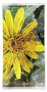 Yellow Wildflower Photoart Beach Towel