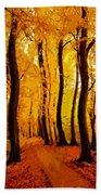 Yellow Wood Beach Towel