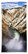 Yellowstone River Below Lower Falls Beach Towel