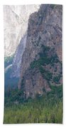 Yosemite Bridal Veil Fall Beach Towel
