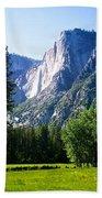 Yosemite Falls From The Ahwahnee Beach Towel