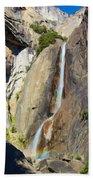 Yosemite Falls Rainbow Beach Towel
