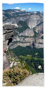 Yosemite Valley From Glacier Point Beach Towel