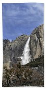 Yosemite Water Fall Beach Towel