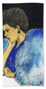 Young Billie Holiday Beach Towel