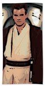 Young Obi Wan Kenobi Beach Towel