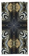 Zebra Cross II Beach Towel