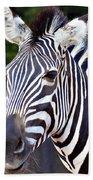 Zebra Symmetry  Beach Towel