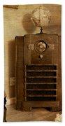 Zenith Consol Radio 1940's  Beach Towel