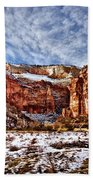 Zion Canyon In Utah Beach Towel