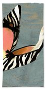 Zippy Zebra Slings Beach Towel