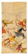 Zodiac Signs From Indian Manuscript Beach Towel by Science Source