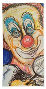 Happy Clown Beach Towel