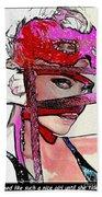 # 39 Charlize Theron Portrait Beach Sheet