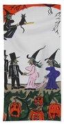A Halloween Wedding Beach Towel