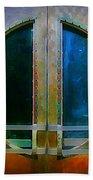 Art Deco Door In Halifax Nova Scotia Beach Towel