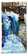 Blue Angel 2015 Carnevale Di Venezia Italia Beach Towel