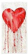 Broken Heart - Bleeding Heart Beach Towel