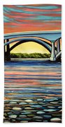 Folsom Bridge Beach Towel