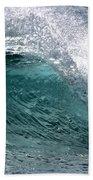 Green Cresting Wave, Hawaii Beach Towel