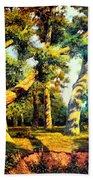 Green Summer-the Oak Forest Beach Towel