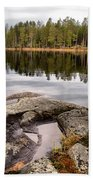 Haukkajarvi Landscape Beach Towel