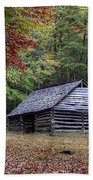 Jim Bales Place Barn Along Roaring Fork Motor Trail Beach Towel