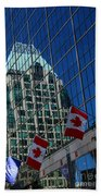Modern Architecture - City Reflection Vancouver  Beach Towel